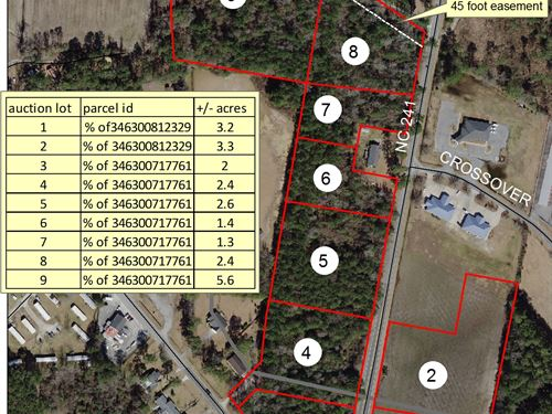 Acreage Tracts In Duplin County, Nc : Beulaville : Duplin County : North Carolina
