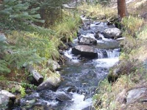Colorado 40 Ac Mining Claim Creek : Jefferson : Park County : Colorado