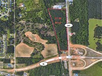 Wooded Commercial Lot Available : Bonaire : Houston County : Georgia