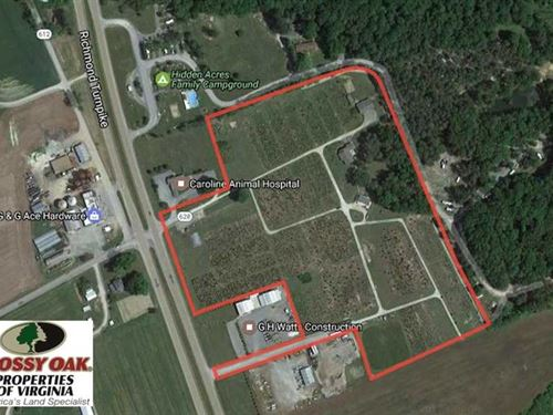 21.73 Acres of Commercial Land Wit : Milford : Caroline County : Virginia