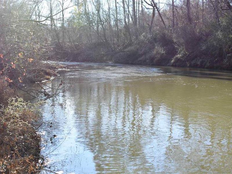 60+ Acres Little River Property : Eatonton : Putnam County : Georgia