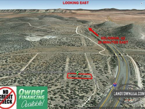 1.02 Acre Treed Lot Near Seligman : Seligman : Yavapai County : Arizona