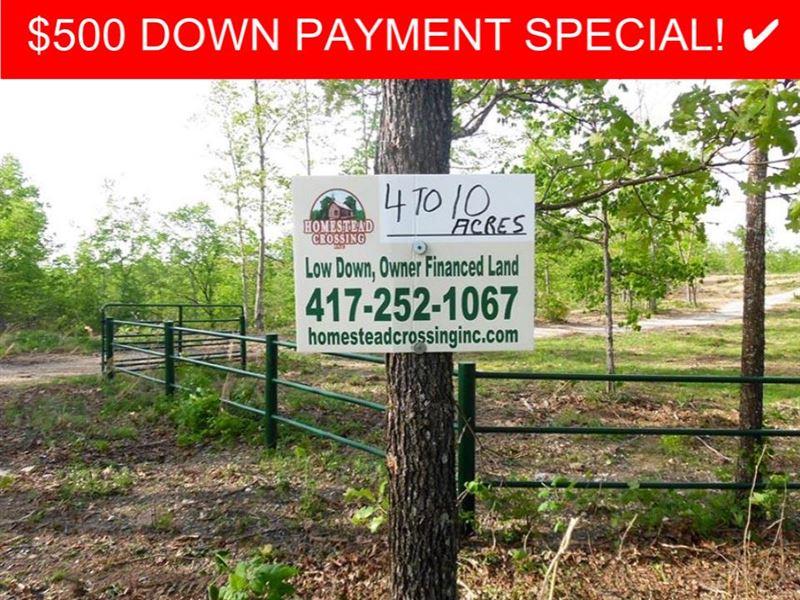 4 Acres Of Ozark Land : Land for Sale by Owner : West Plains