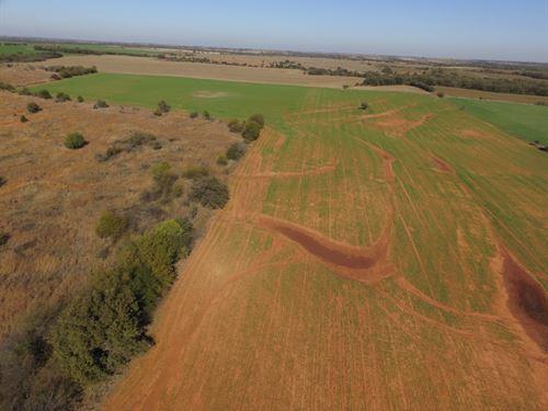 Farmland, Grass And Pond : Covington : Oklahoma County : Oklahoma
