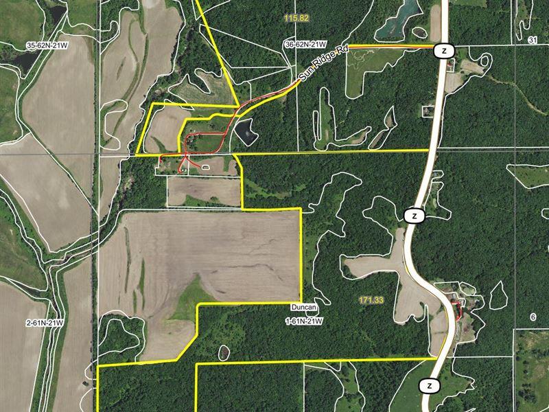 287 Acres Hwy Z Sullivan County : Milan : Sullivan County : Missouri
