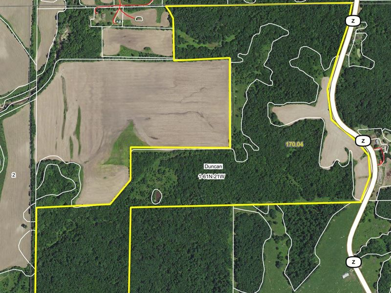 170 Acres Hwy Z Sullivan County : Milan : Sullivan County : Missouri