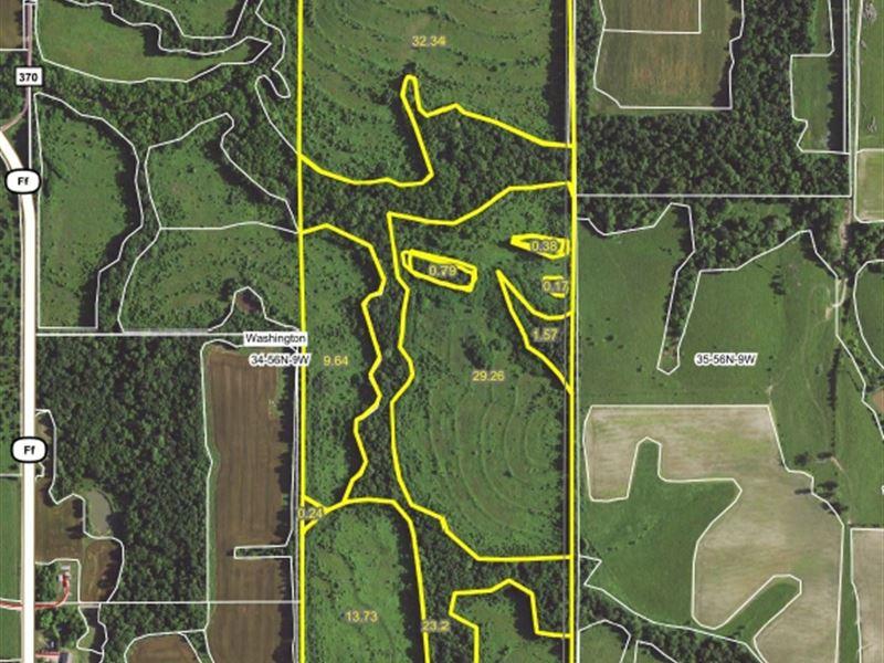 120 Acres Monroe Road 370 Monroe : Monroe City : Monroe County : Missouri