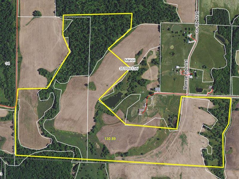 130 Acres County Road 1191 Monroe : Madison : Monroe County : Missouri