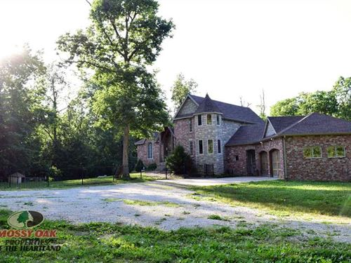 Beautiful French Tudor Home on 8 : Everton : Dade County : Missouri