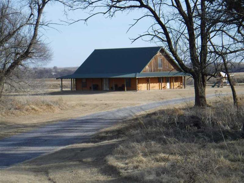 Land Description Log Cabin W Wrap Around Porch
