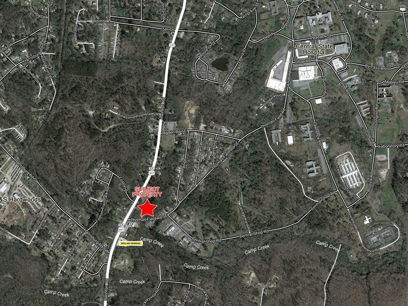 2.5 Acre Corner Lot For Sale : Milledgeville : Baldwin County : Georgia