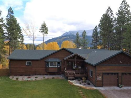 Fabulous Flathead River Home : Columbia Falls : Glacier County : Montana