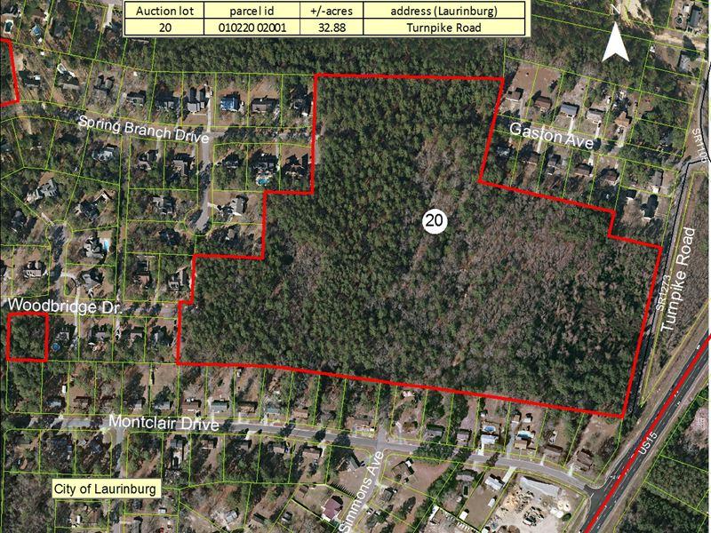 32.88+/- Acres : Laurinburg : Scotland County : North Carolina