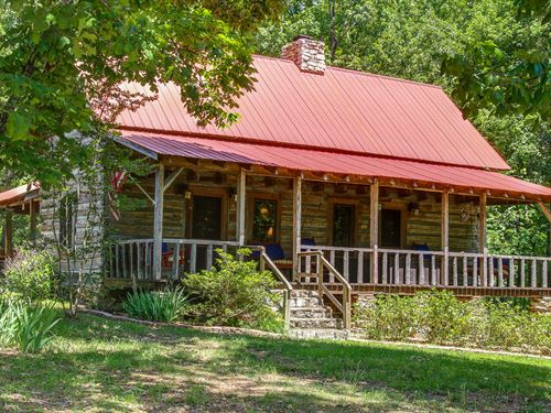 200 Year Old Log Home On 56 Acres : Lawrenceburg : Lawrence County : Tennessee