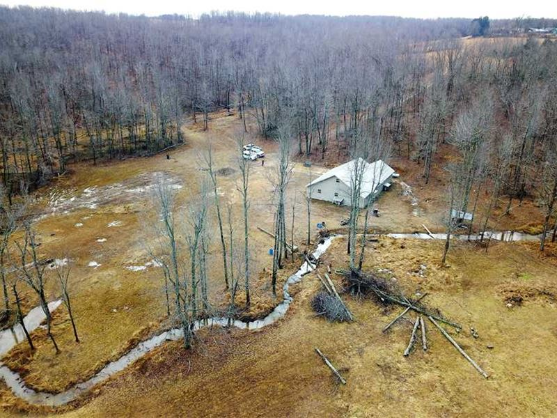 Home Built in 2016 With 40 Acres : Leslie : Searcy County : Arkansas