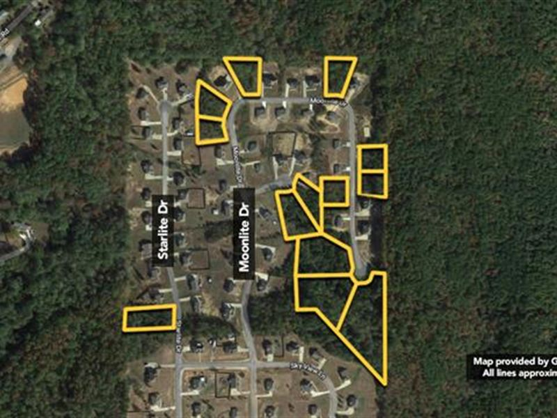 13 Residential Lots Selling as : Margaret : Saint Clair County : Alabama