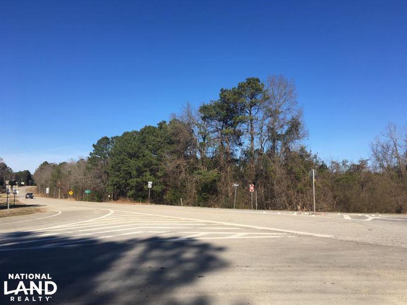 I-20 Commercial Corner Lot : Warrenton : Warren County : Georgia