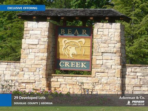 29 Developed Lots, Bear Creek : Douglasville : Douglas County : Georgia