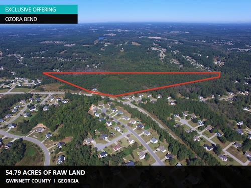 54.79 Acres Raw Land, Ozora Bend : Loganville : Gwinnett County : Georgia
