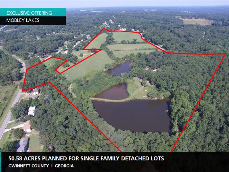 50.58 Acres, Mobley Lakes : Dacula : Gwinnett County : Georgia