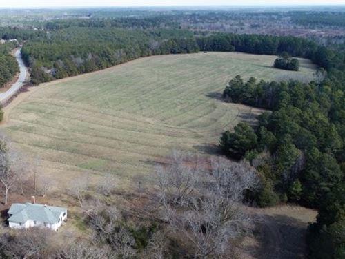 Established Pasture, Pond & House : Winnsboro : Fairfield County : South Carolina