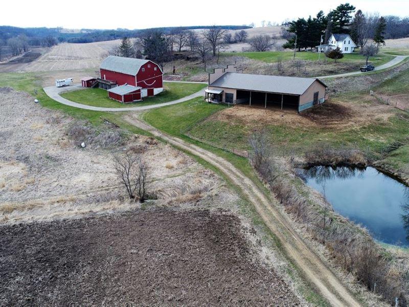 Happy Acres Farm : Hollandale : Iowa County : Wisconsin
