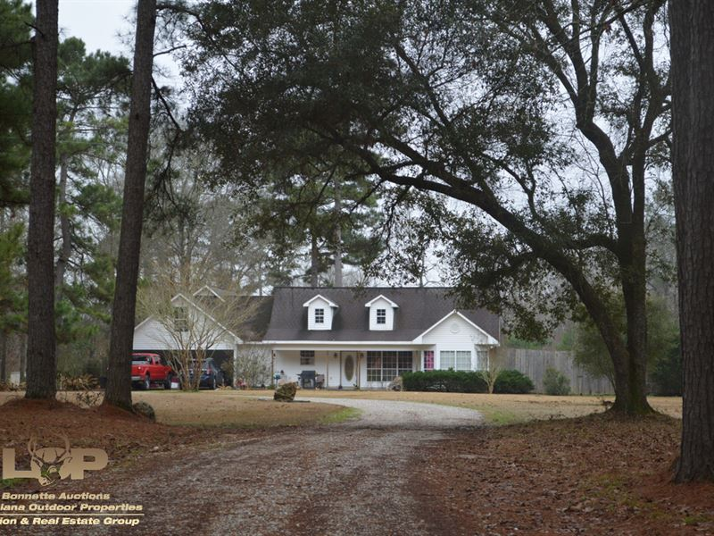 Home & Acreage For Sale : Ville Platte : Evangeline Parish : Louisiana