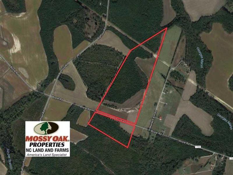 Under Contract, 70 Acres of Farm : Lumber Bridge : Hoke County : North Carolina