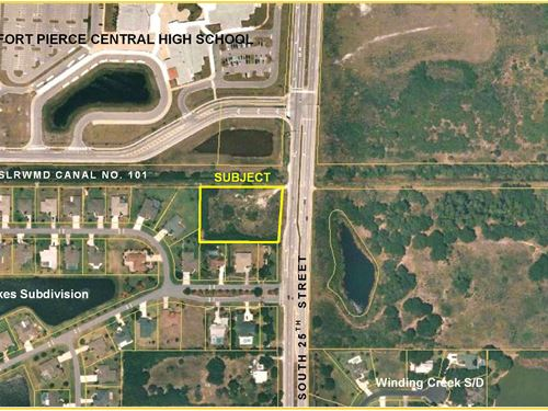Commercial Lot - Arterial 4-Lane Rd : Fort Pierce : Saint Lucie County : Florida