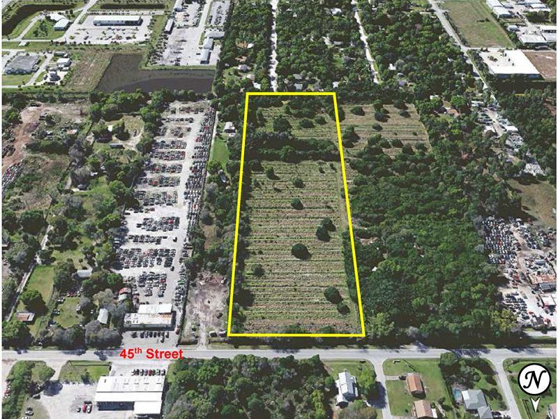 11Ac Industrial Site : Vero Beach : Indian River County : Florida