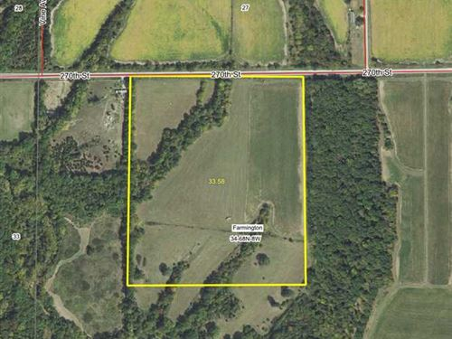 33 Acres, M/L, Farm For Sale in Va : Bonaparte : Van Buren County : Iowa