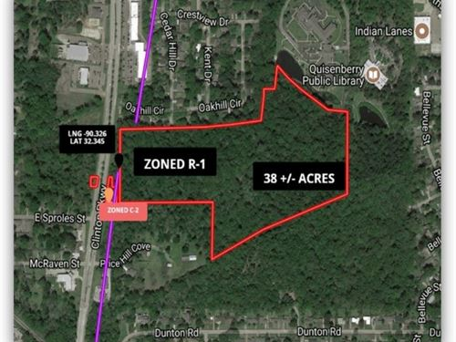38 Acres In Hinds County : Clinton : Hinds County : Mississippi