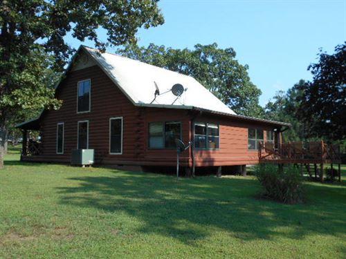 Log Cabin On 56 Park-Like Acres : Osce : Saint Clair County : Missouri