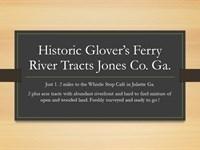 Riverfront Juliette Glover's Ferry : Juliette : Jones County : Georgia