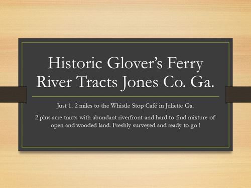 Riverfront Juliette Glover's Ferry : Juliette : Jones County : Georgia