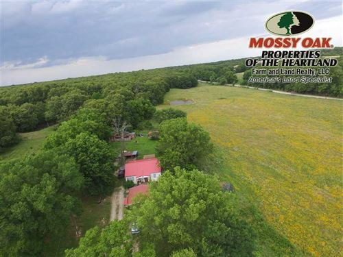 Big Hill Lake Home With 10 Acres : Cherryvale : Labette County : Kansas