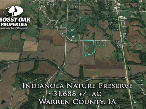 31 Acres, M/L, Recreational Land : Indianola : Warren County : Iowa
