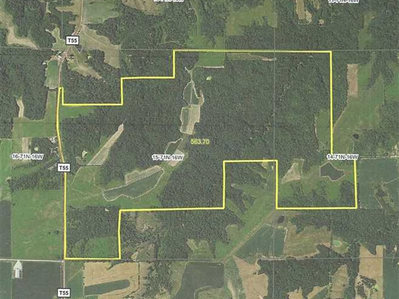 557 Acres M/L, Land For Sale in MO : Blakesburg : Monroe County : Iowa