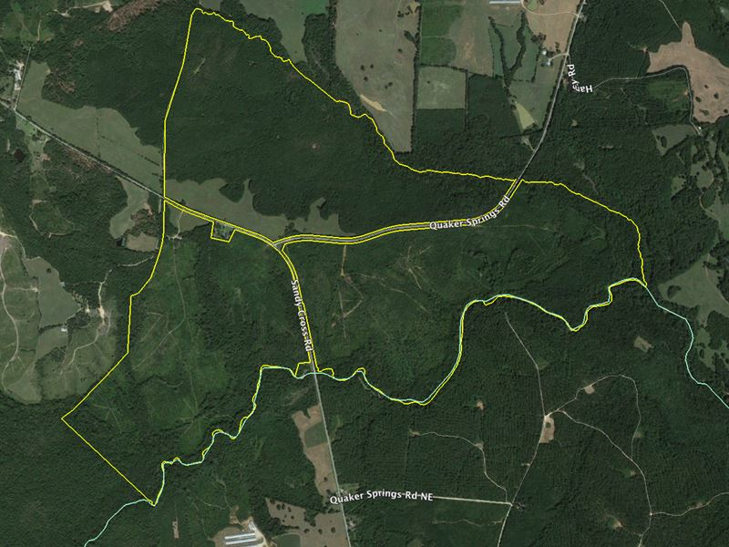 Prime Hunting Land On Little River : Washington : Wilkes County : Georgia