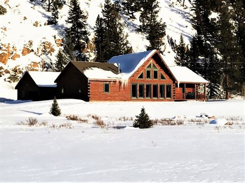 Mountain Log Home With Acreage : South Fork : Rio Grande County : Colorado