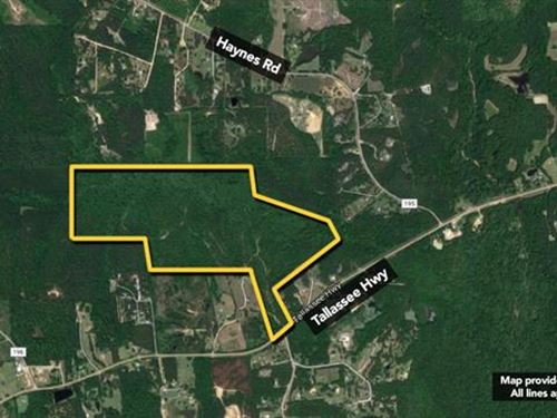 Land. Approx 174.15Ac Lot : Wetumpka : Montgomery County : Alabama