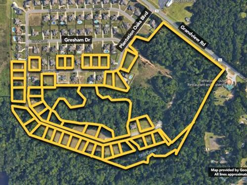 Land. Approx 28.08Ac Lot : Millbrook : Elmore County : Alabama