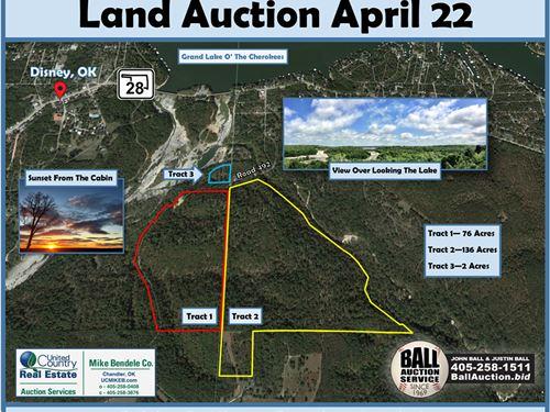 Real Estate Auction, Grand Lake, Ok : Eucha : Delaware County : Oklahoma