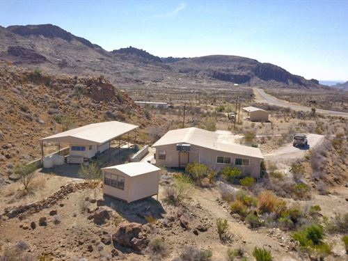 Nice Home On 7.48 Acres : Terlingua : Brewster County : Texas
