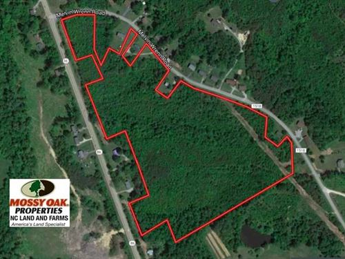 33 Acres of Development Land For : Yanceyville : Caswell County : North Carolina