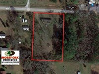 1.5 Acre Lot With Water Front View : Aurora : Beaufort County : North Carolina