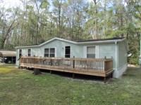 3/2 Dwmh On 3 Acres 773762 : Old Town : Dixie County : Florida
