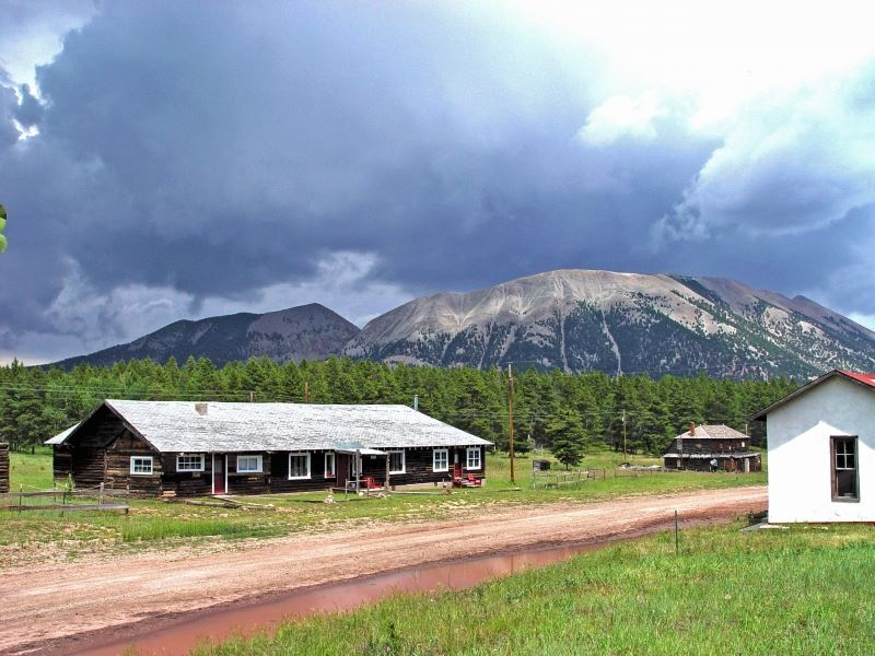 Historic Settlement On Old La Veta : La Veta : Huerfano County : Colorado