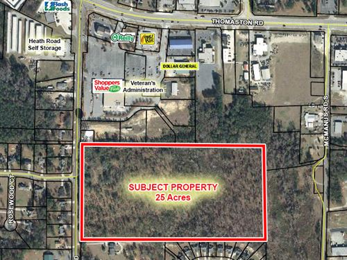 25 Acres Of Land For Sale : Macon : Bibb County : Georgia