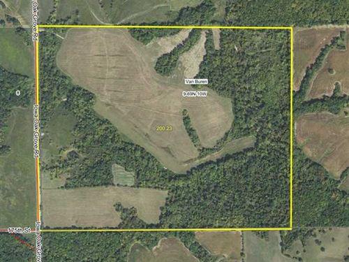 200 Acre Farm For Sale in Van Bure : Douds : Van Buren County : Iowa